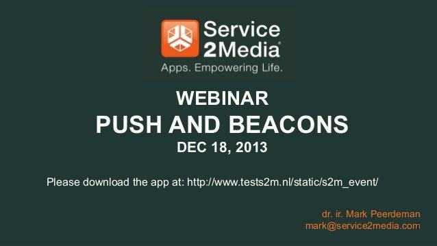 Webinar Push & Beacons