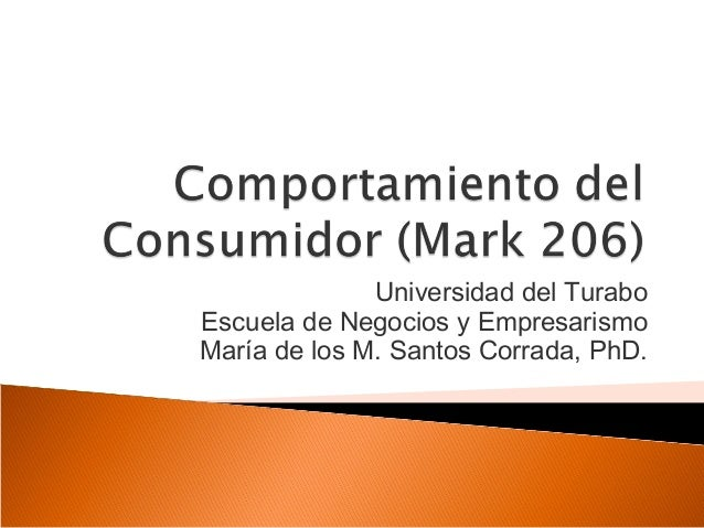 Universidad del TuraboEscuela de Negocios y EmpresarismoMaría de los M. Santos Corrada, PhD.