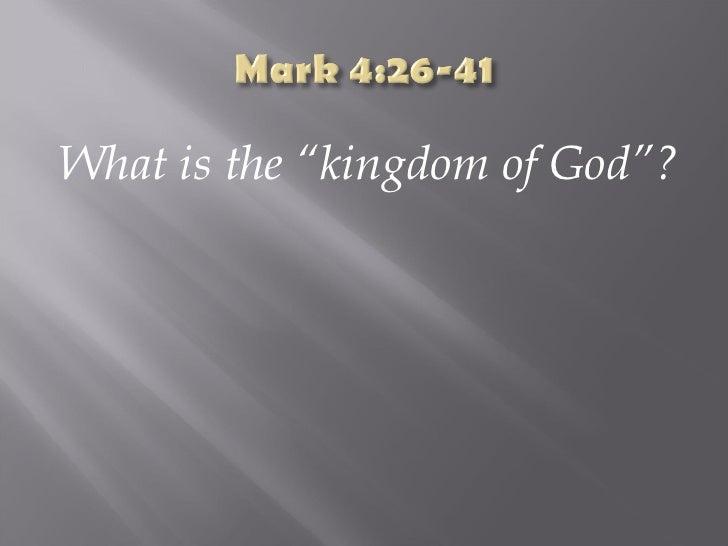 Mark 4:26-41