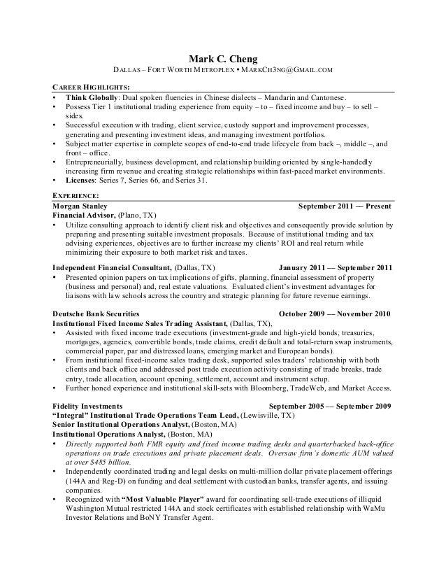 Independent Financial Adviser Sample Resume Image Result For ...
