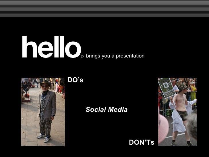DO's DON'Ts Social Media