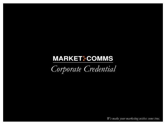 Market-Comms Credentials