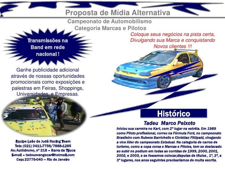Proposta de Mídia Alternativa                                  Campeonato de Automobilismo                                ...