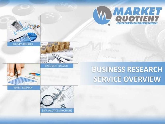 Market Quotient Business Research Service Overview
