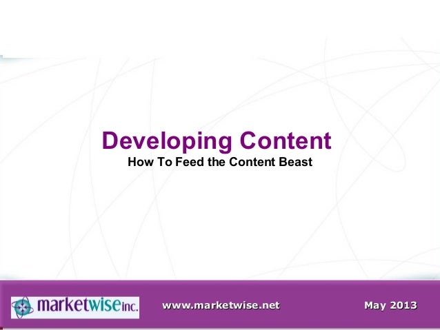 How to Feed Your Content Beast  - Finding content for blogs, social media, etc.