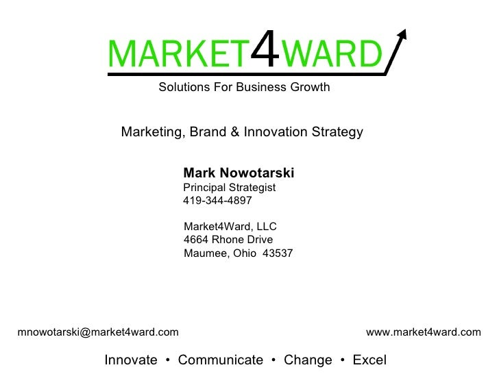 Solutions For Business Growth                    Marketing, Brand & Innovation Strategy                                Mar...