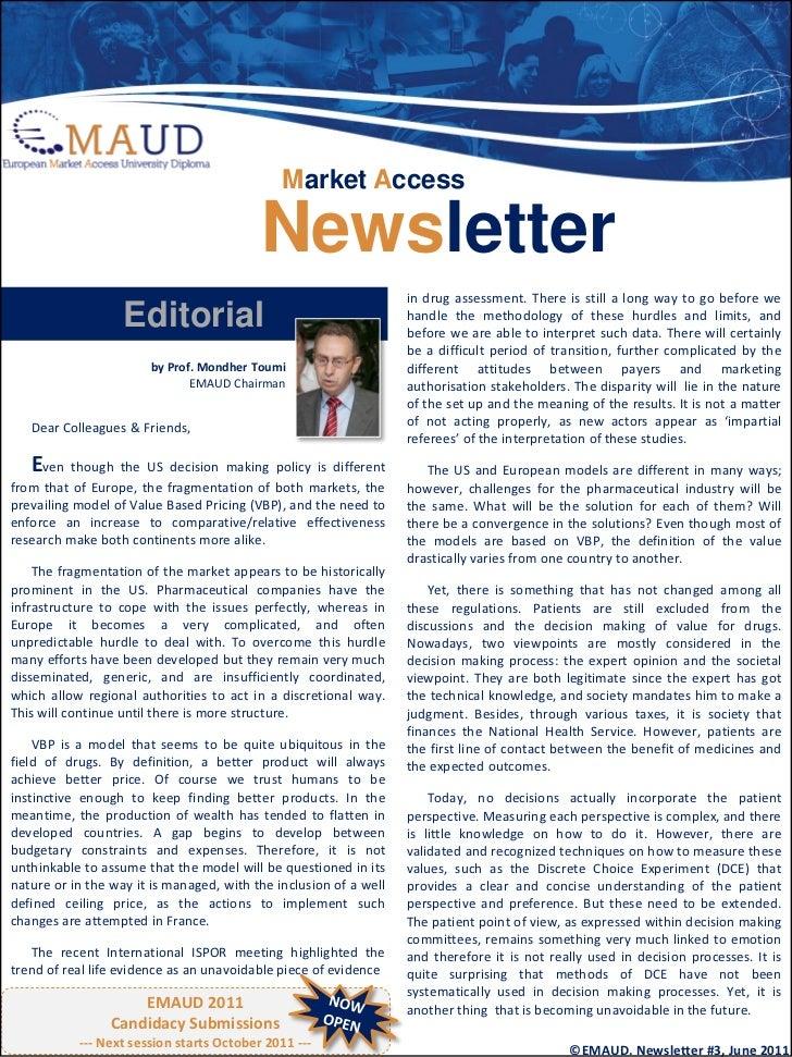 Market Access                                          Newsletter                                                         ...