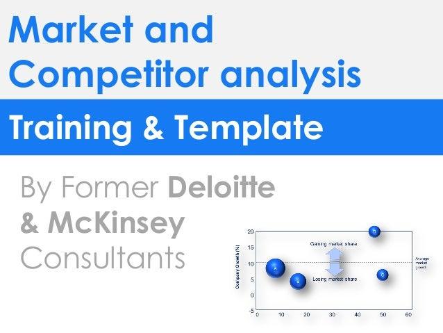 CompetitorAnalysisTemplateBy Former DeloitteManagementConsultants