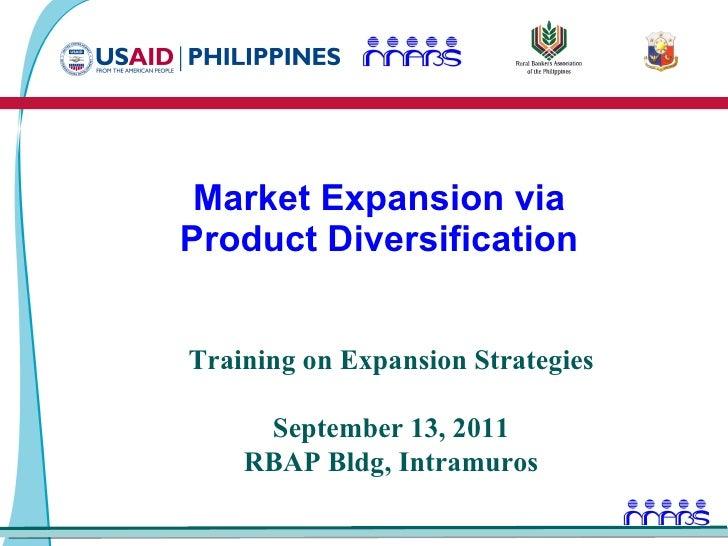 Market expansion through Product Diversification