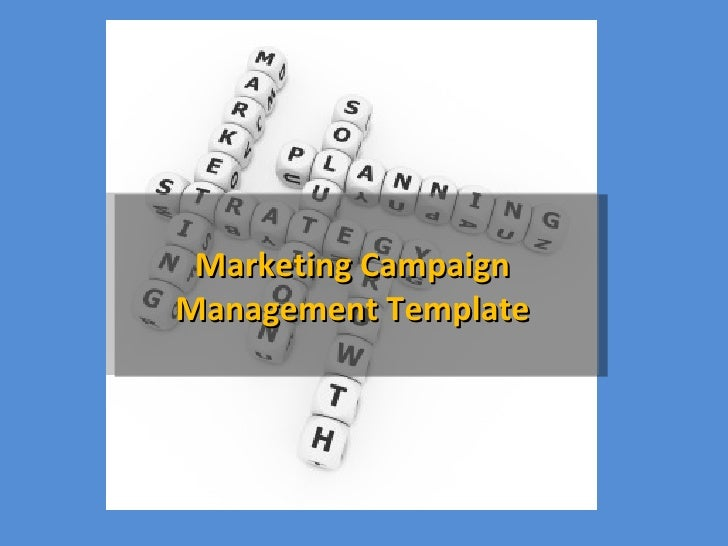 Marketing CampaignMarketing Campaign Management TemplateManagement Template