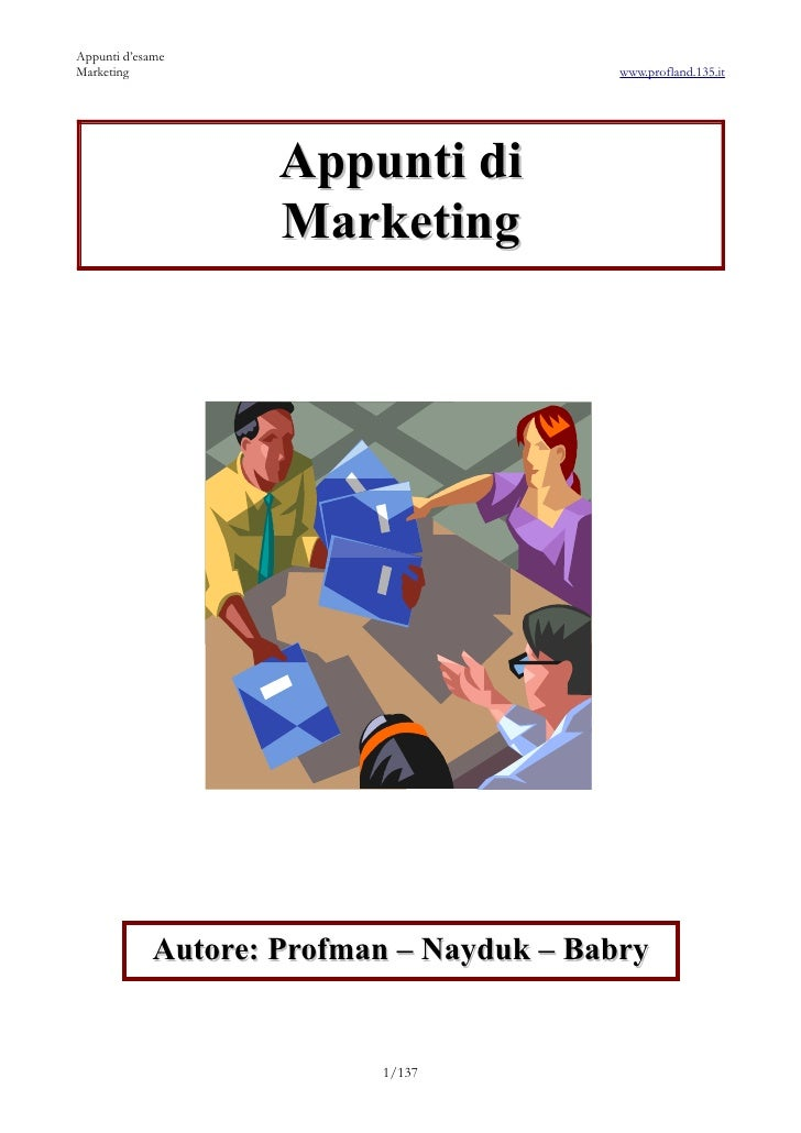 Appunti di Marketing