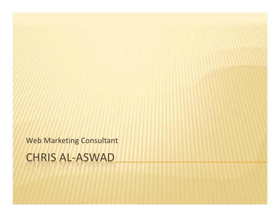 WebMarketingConsultant  CHRISAL‐ASWAD