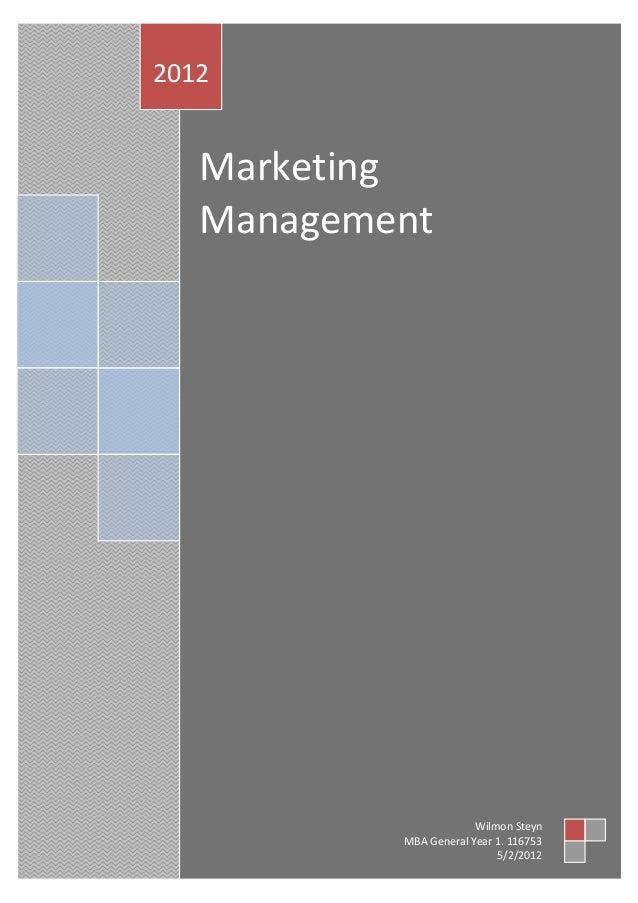2012   Marketing   Management                        Wilmon Steyn           MBA General Year 1. 116753                    ...