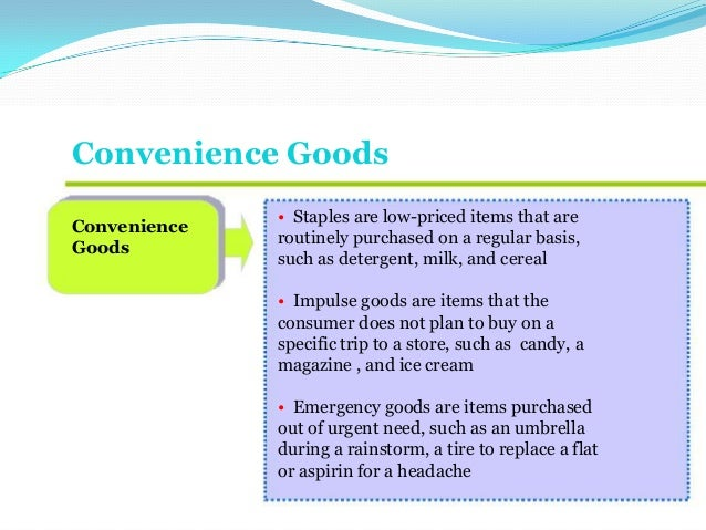 pricing for convenience goods