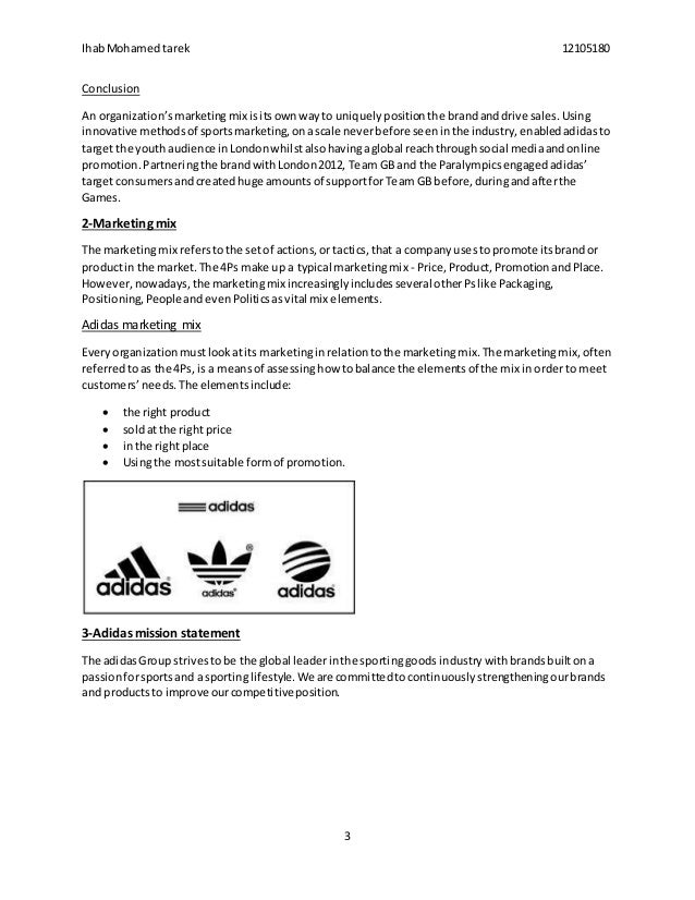 Essay marketing mix of adidas