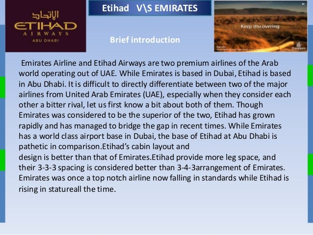 emirates airlines and industry analysis marketing essay Promotion strategies for emirates airlines (essay in their respective industry most of the marketing plans are based on an analysis of the social.