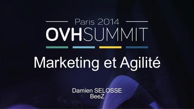 Marketing et Agilité  Damien SELOSSE  BeeZ