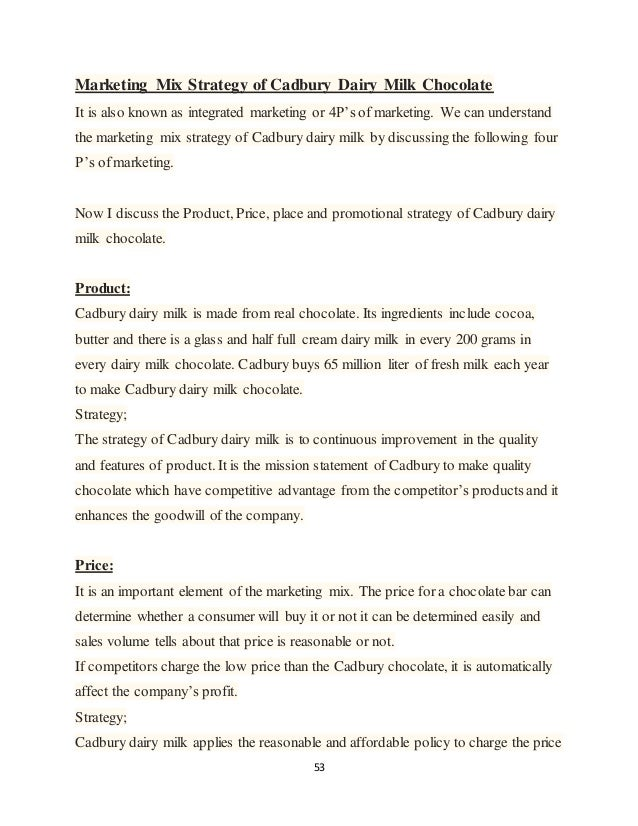 cadbury positioning strategy essay example Read this essay on cadbury marketing strategy example of 'green' and 'ethical 24 creation of the competitive positioning 25.