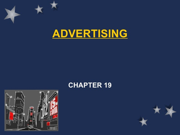 ADVERTISING CHAPTER 19