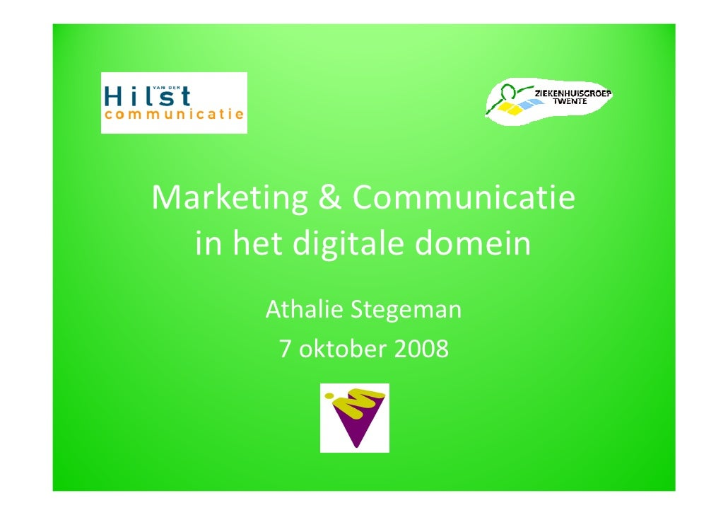 Marketing & Communicatie in de Zorg
