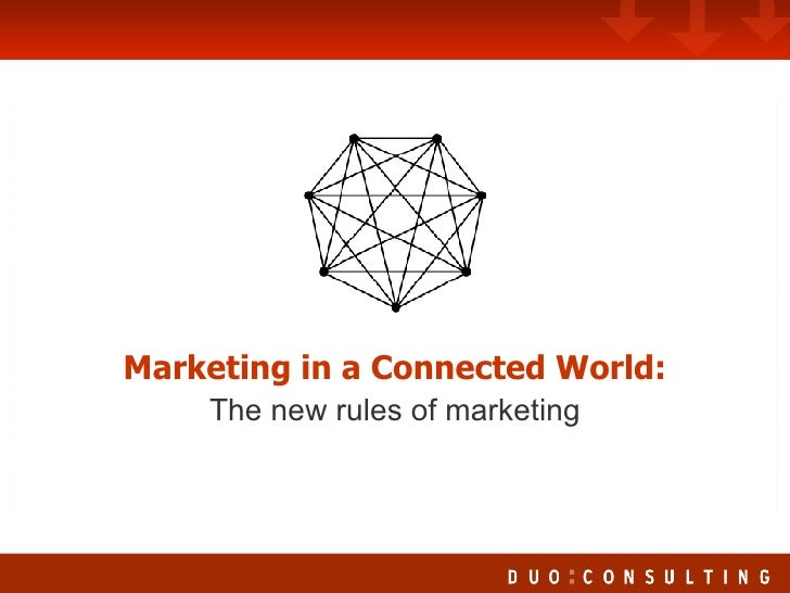 Marketing in a Connected World: The New Rules of Marketing