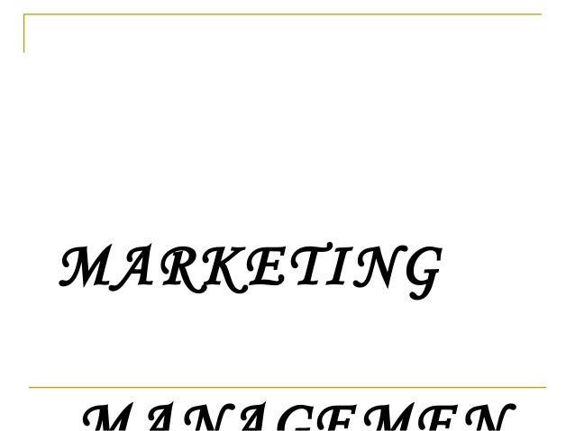 Marketing management-ppt