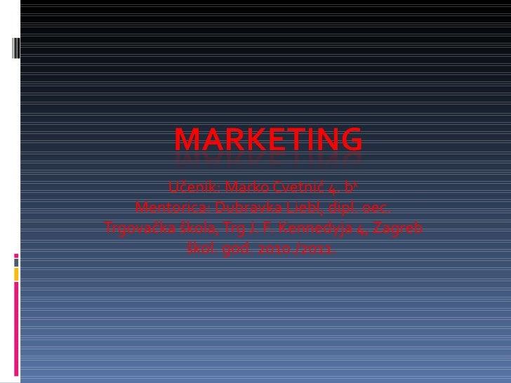 Marketing (Marko-Cvetnic)