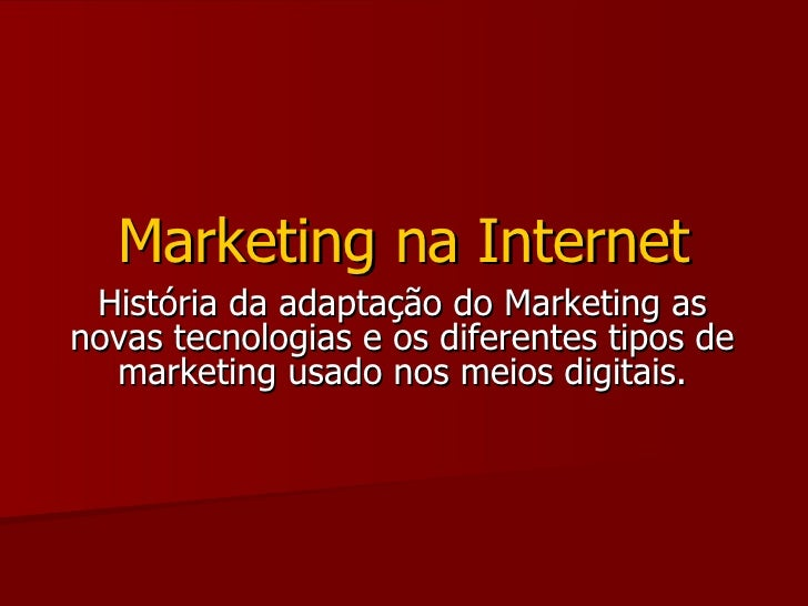 Marketing Na Internet 9525