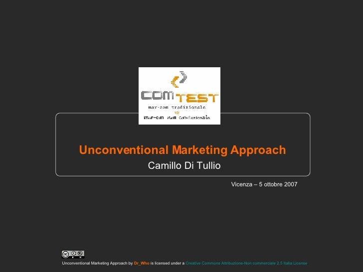 Marketing non convenzionale: approccio