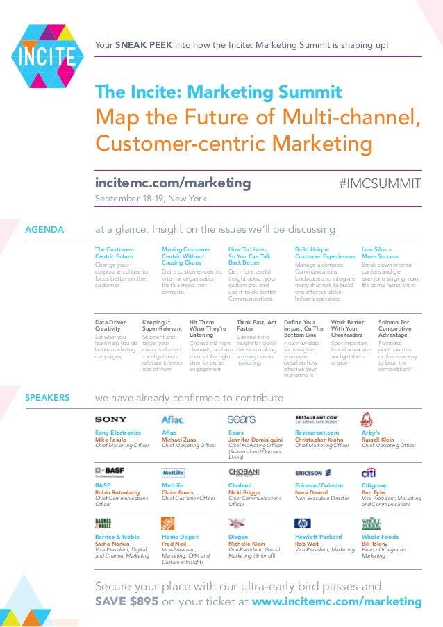 Incite: Marketing Summit 2013 - Sneak Peek