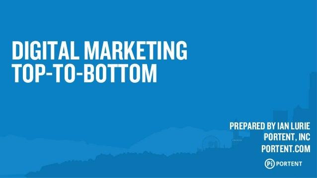 Digital Marketing, Top To Bottom