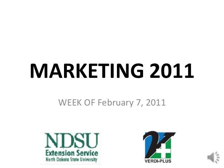 Marketing Club Update 02/10/2011