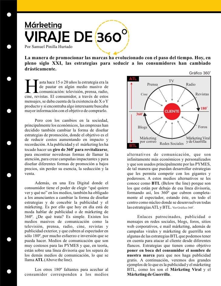 Márketing                                                        O VIRAJE DE 360 Por Samuel Pinilla Hurtado  La manera de ...