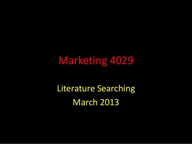 Marketing 4029