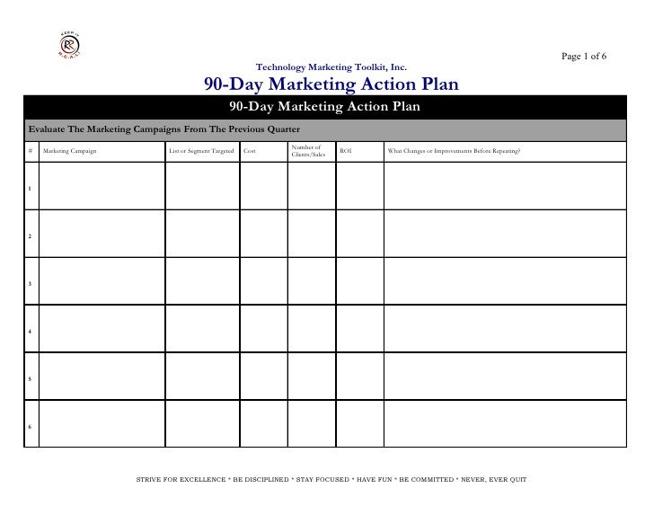 Action Plan Style