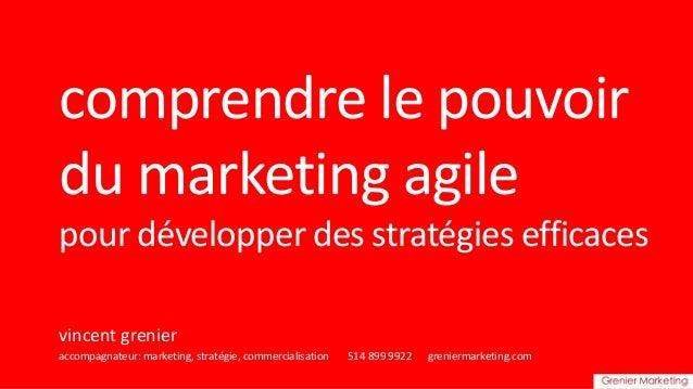 """Conférence """" Comprendre le pouvoir du marketing agile pour développer des stratégies efficientes"""""""