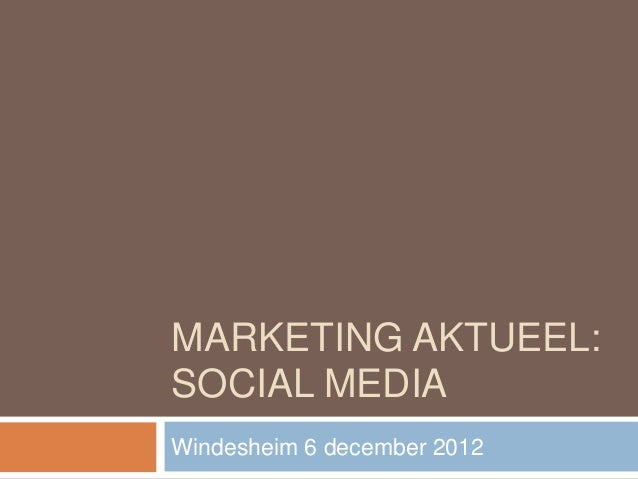 Marketing actueel Windesheim 6 december
