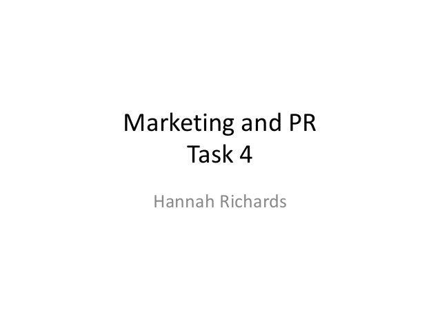 Marketing and PR Task 4 Hannah Richards