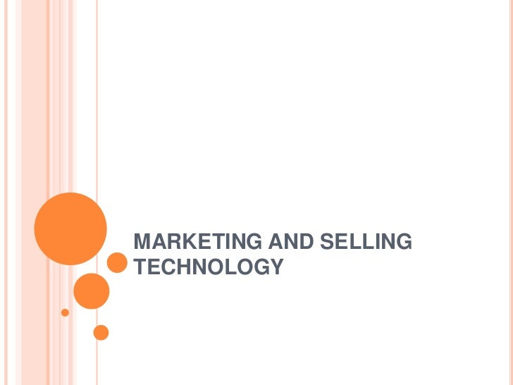 NPD_ Marketing and selling technology
