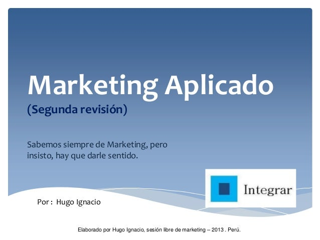 Marketing Aplicado - 2da revisión