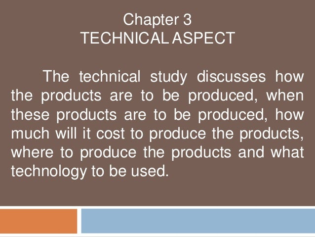 technical aspect of business plan