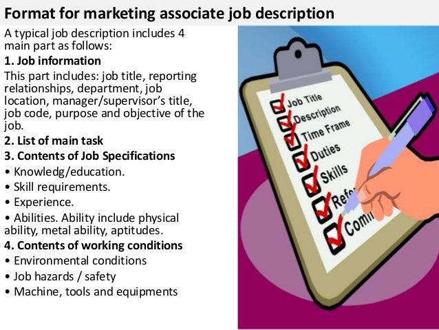 Marketing associate job description