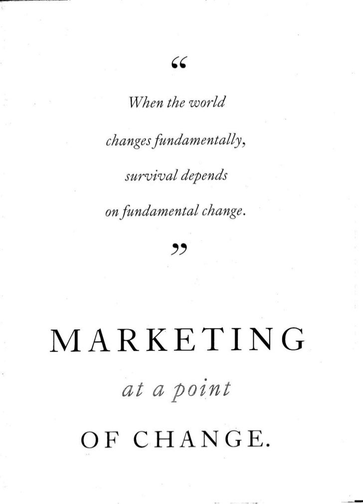 Marketing At A Point Of Change