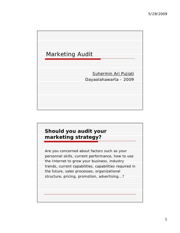 5/29/2009     Marketing Audit         g                              Suhermin Ari Pujiati                         Dayaolah...
