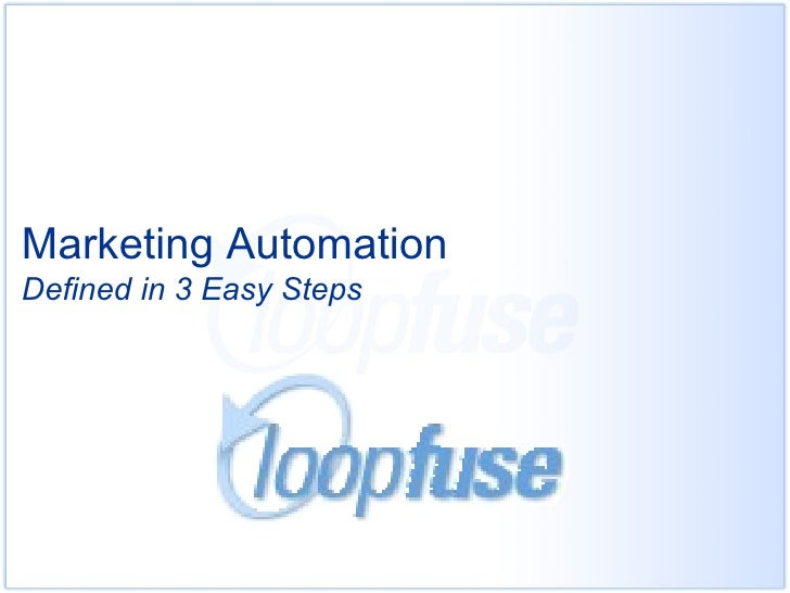 Marketing automation   3 steps