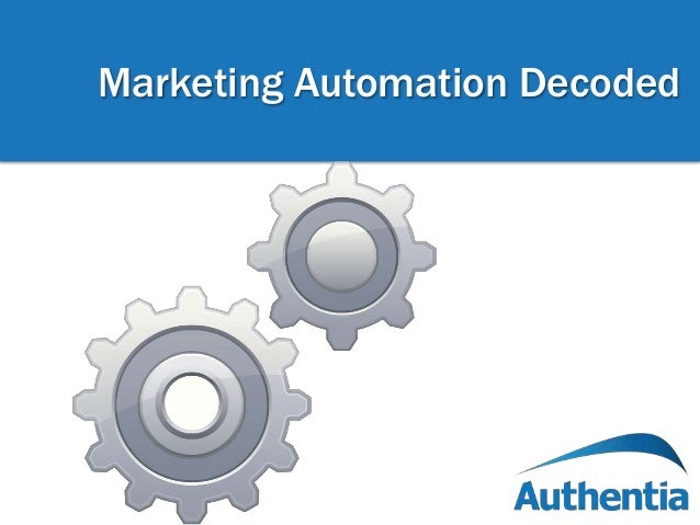 Marketing Automation Decoded