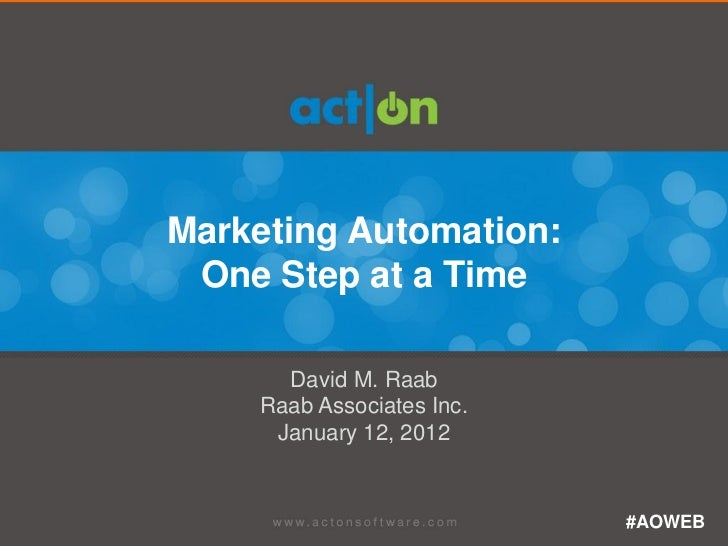 Marketing Automation, One Step At a Time