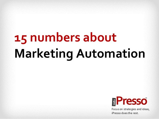 15 numbers about Marketing Automation Focus on strategies and ideas, iPresso does the rest.