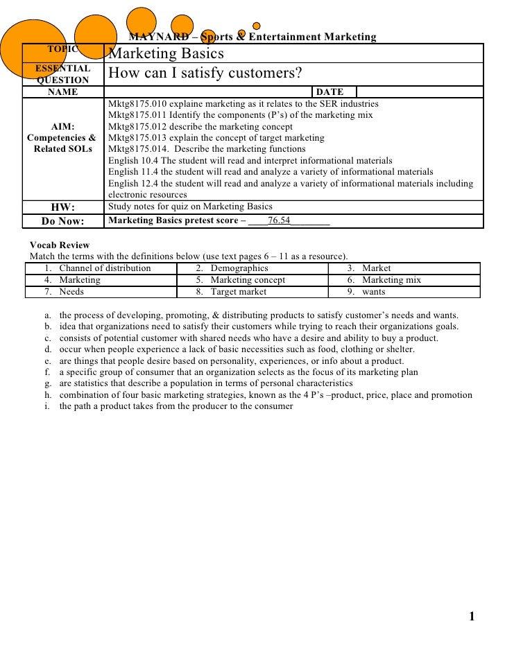 Marketingbasicsnotes8.29.11