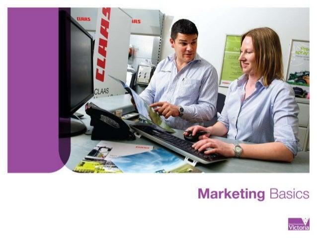 Marketing basics seminar